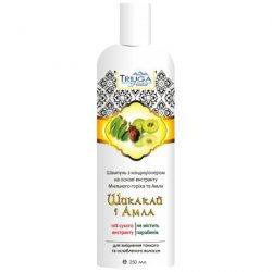 Аюрведический растительный шампунь-кондиционер для тонких и ослабленных волос Шикакай и Амла, Triuga Herbal