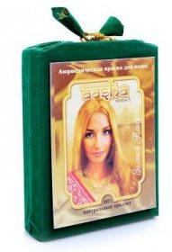 Аюрведическая краска для окрашивания и лечения волос AASHA Herbals, Золотой Блонд