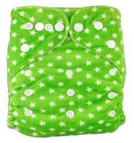 Подгузник многоразовый велюровый Зеленые звездочки, StylishBaby