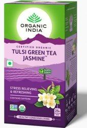 Лечебный аюрведический чай Tulsi Jasmine Green Tea, Organic India
