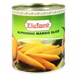 Манго Альфонсо (кусочки в сахарном сиропе), Elafant