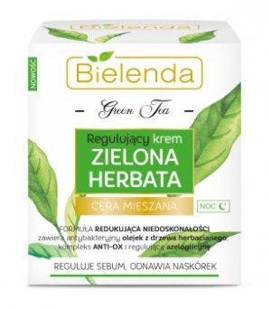 Ночной регулирующий крем с зеленым чаем, BIELENDA