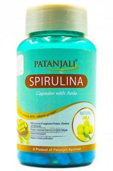Спирулина с Амлой (Spirulina capsules with Amla), Patanjali