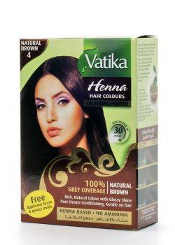 Краска для волос на основе хны Vatika, Натуральная коричневая