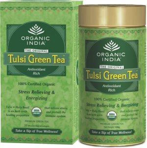 Лечебный аюрведический чай Tulsi Green Tea, Organic India