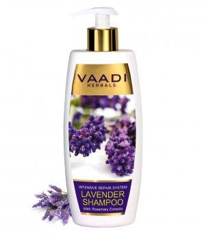 Аюрведический шампунь интенсивное восстановление волос Лаванда и Розмарин, Vaadi Herbals