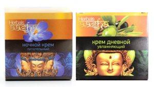 Дневной увлажняющий и ночной питательный крем, Aasha Herbals