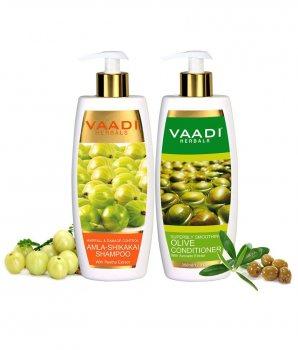Набор против выпадения волос Шампунь + Кондиционер, Vaadi Herbals