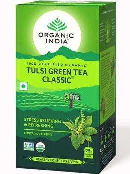 Лечебный аюрведический чай Tulsi Green Tea Classic, Organic India
