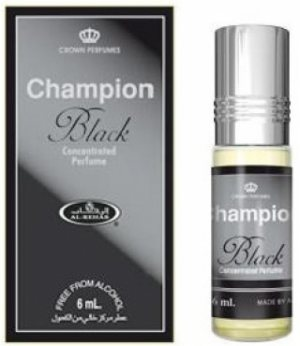 Мужские масляные духи Champion Black, Al Rehab