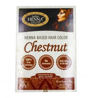 Краска для волос Каштан (Henna Based Hair Colour Chestnut), Indian Henna Salon
