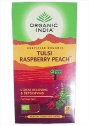 Лечебный аюрведический чай Tulsi Raspberry Peach, Organic India