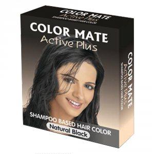 Краска-шампунь в порошке Актив Плюс натуральный чёрный (Active Plus Shampoo Based Hair Color), Color Mate