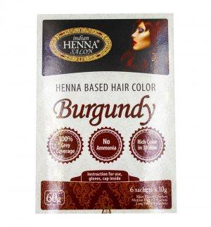 Краска для волос Бургунд (Henna Based Hair Colour Burgundy), Indian Henna Salon
