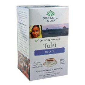 Лечебный аюрведический чай с лакрицей Tulsi Mulethi, Organic India