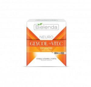 Ночной крем-эксфолиант против морщин GLYCOL+Vit. C, BIELENDA