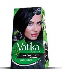 Крем-краска для волос с экстрактом ежевики Vatika Naturals, Глубокий черный