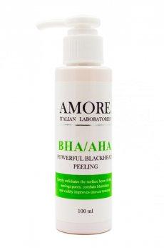 Концентрированный пилинг с кислотами против черных точек и акне, AMORE