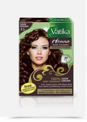 Краска для волос на основе хны Vatika, Темно-коричневая