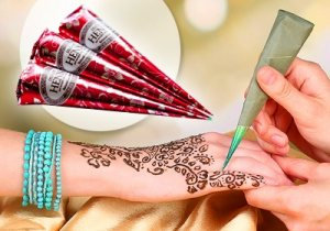 Натуральная хна для нательных рисунков Mehendi, Indian Henna