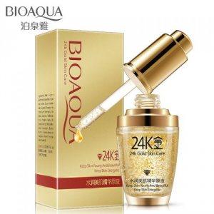 Сыворотка для лица с коллоидным золотом и гиалуроновой кислотой (24k Gold Skin Care), Bioaqua