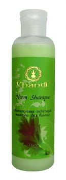 Натуральный индийский шампунь без SLS от выпадения и перхоти Ним, Chandi