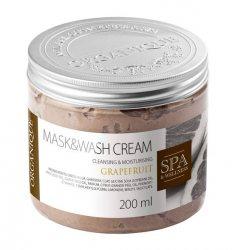 Маска для тела с глиной гассул Грейпфрут,  Mask&Wash Cream, Organique