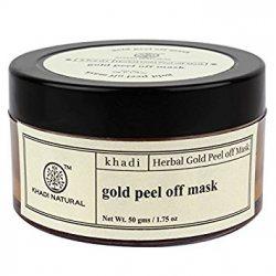 Отшелушивающая маска-пленка для лица с золотом, Khadi