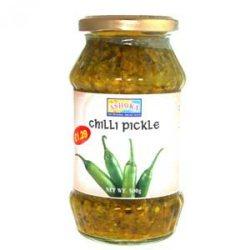Пикули зеленого перца Chilli Pickle, Ashoka