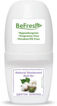 Натуральный  роликовый дезодорант для тела от запаха, цветок хлопка, Befresh