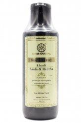 Аюрведический травяной шампунь АМЛА и РИТХА, Khadi