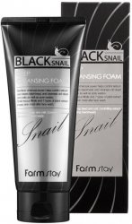 Пенка для лица с муцином черной улитки (Black Snail Deep Cleansing Foam), Farmstay