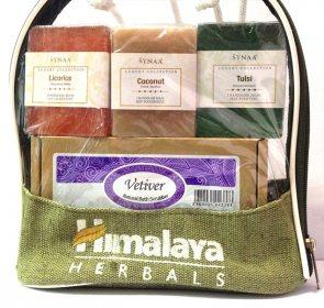 """Подарочный набор мыло ручной работы """"Лакрица, кокос, тулси"""", Synaa"""