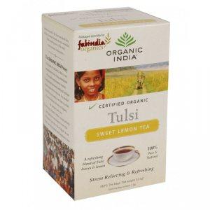 Лечебный аюрведический чай Tulsi Sweet Lemon Tea, Organic India