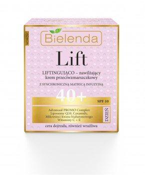 Дневной увлажняющий крем-лифтинг – против морщин 40+ (SPF10), Bielenda