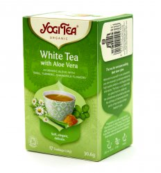 Аюрведический йога чай Белый чай с Алоэ вера (White tea with Aloe Vera), Yogi tea