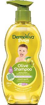 Мягкий детский шампунь с оливковым маслом, DermoViva Baby