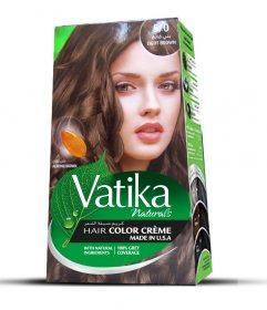 Крем-краска для волос с экстрактом миндаля Vatika Naturals, Светло-коричневый
