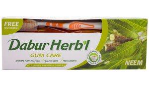 Зубная паста с нимом Dabur Herbal + зубная щетка в подарок!
