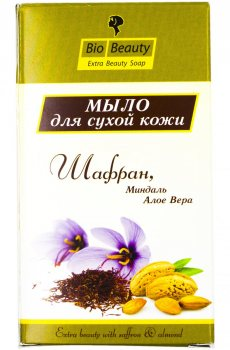 Мыло для сухой кожи Шафран, Миндаль и Алоэ Вера (Saffron Bio Beauty), Zee