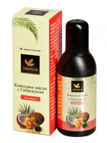 Масло кокосовое с гибискусом для волос, Veda Vedica