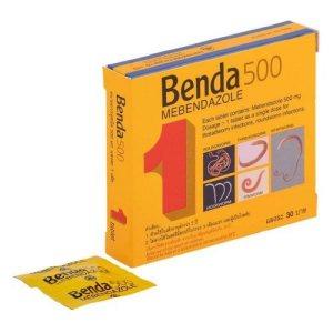 Таблетки от глистов и кишечных паразитов Бенда 500 (Benda 500 tablets), THAI NAKORN PATANA