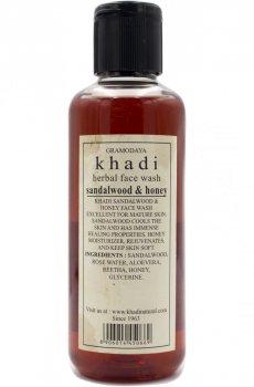 Аюрведический гель для умывания Сандал и Мед (Sandalwood & Honey), Khadi