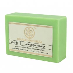 Натуральное мыло ручной работы Лемонграсс ( Lemongrass soap), Khadi