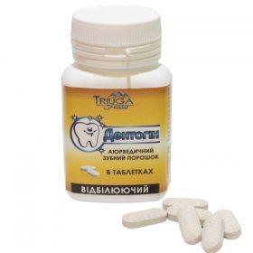 Аюрведический зубной порошок для курящих отбеливающий в таблетках Дентогин, Triuga Herbal