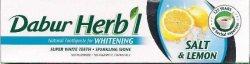 Отбеливающая зубная паста с солью и лимоном, Dabur Herbal