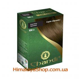 Травяная краска для волос Chandi Organic, Коричневая