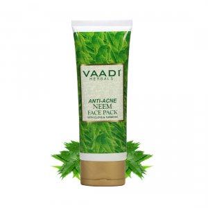 Маска против прыщей с нимом и гвоздикой (Anti Acne Neem Face Pack), Vaadi Herbals
