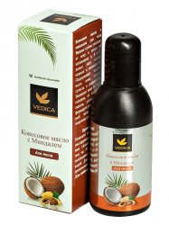 Масло кокосовое с миндалем для тела, Veda Vedica