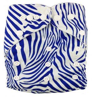 Подгузник многоразовый Синяя зебра, StylishBaby